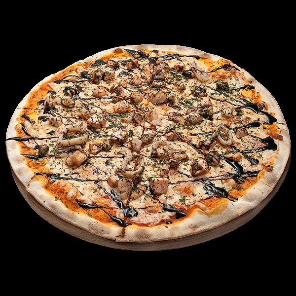 Пицца с морепродуктами